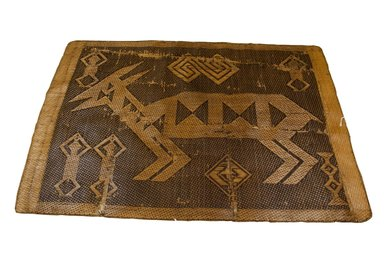 Kongo. <em>Mat</em>, 19th century. Rattan, 40 3/16 x 57 1/2 in. (102 x 146 cm). Brooklyn Museum, Museum Expedition 1922, Robert B. Woodward Memorial Fund, 22.1392. Creative Commons-BY (Photo: Brooklyn Museum, CUR.22.1392_top_PS5.jpg)