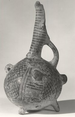 Cypriot. <em>Tall-sprouted Jug</em>, ca. 1750-1700 B.C.E. Clay, pigment, 8 7/16 x Diam. 4 1/2 in. (21.4 x 11.4 cm). Brooklyn Museum, Gift of Mrs. Frederic H. Betts, 22.13. Creative Commons-BY (Photo: Brooklyn Museum, CUR.22.13_print_NegA_bw.jpg)