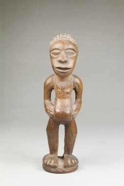 Songye. <em>Figure of a Standing Female</em>, late 19th or early 20th century. Wood, 6 x 1 3/4 x 2 in. (15.2 x 4.4 x 5.1 cm). Brooklyn Museum, Museum Expedition 1922, Robert B. Woodward Memorial Fund, 22.1432. Creative Commons-BY (Photo: Brooklyn Museum, CUR.22.1432_front_PS5.jpg)