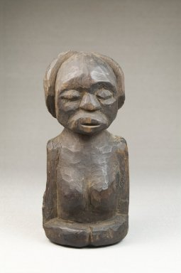 Songye. <em>Half Figure</em>, late 19th or early 20th century. Wood, 5 1/4 x 2 1/2 x 2 in. (13.3 x 6.4 x 5.1 cm). Brooklyn Museum, Museum Expedition 1922, Robert B. Woodward Memorial Fund, 22.1435. Creative Commons-BY (Photo: Brooklyn Museum, CUR.22.1435_front_PS5.jpg)