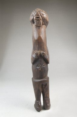 Mbala. <em>Standing Male Figure</em>, 19th or early 20th century. Wood, 9 x 1 1/2 x 1 3/4in. (22.9 x 3.8 x 4.4cm). Brooklyn Museum, Museum Expedition 1922, Robert B. Woodward Memorial Fund, 22.1436. Creative Commons-BY (Photo: Brooklyn Museum, CUR.22.1436_front_PS5.jpg)