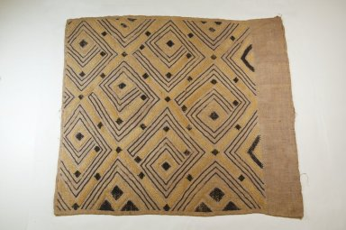 Ngeende. <em>Raffia Cut-Pile Panel</em>, 19th century., 24 3/4 x 22 3/4 in. (62.0 x 56.5 cm). Brooklyn Museum, Museum Expedition 1922, Robert B. Woodward Memorial Fund, 22.1495. Creative Commons-BY (Photo: Brooklyn Museum, CUR.22.1495_top_PS5.jpg)
