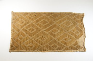 Kuba (Bushoong subgroup). <em>Raffia Cut-Pile Panel</em>, 19th century. Raffia, 12 1/2 x 24 in. (31.0 x 61.0 cm). Brooklyn Museum, Museum Expedition 1922, Robert B. Woodward Memorial Fund, 22.1496. Creative Commons-BY (Photo: Brooklyn Museum, CUR.22.1496_top_PS5.jpg)