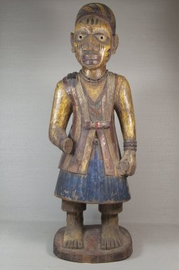 Yorùbá artist. <em>Altar figure for an Òrìṣà</em>, late 19th or early 20th century. Wood, pigment