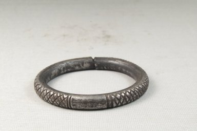 <em>Small Engraved Bracelet</em>. Iron Brooklyn Museum, Museum Expedition 1922, Robert B. Woodward Memorial Fund, 22.1545. Creative Commons-BY (Photo: Brooklyn Museum, CUR.22.1545_front_PS5.jpg)