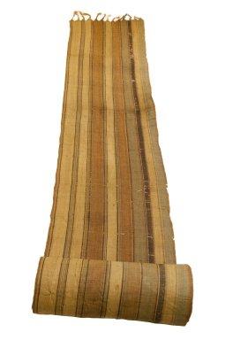 Possibly Sakalava. <em>Long Strip Woven Rafia Cloth</em>, 19th century. Raffia, 18 1/8 x 151 3/16 in. (46 x 384 cm). Brooklyn Museum, Museum Expedition 1922, Robert B. Woodward Memorial Fund, 22.1559. Creative Commons-BY (Photo: Brooklyn Museum, CUR.22.1559_top_PS5.jpg)