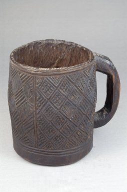 Kuba. <em>Cup</em>, early 20th century. Wood, 4 5/16 x 3 7/8 in. (11 x 9.8 cm). Brooklyn Museum, Museum Expedition 1922, Robert B. Woodward Memorial Fund, 22.157. Creative Commons-BY (Photo: Brooklyn Museum, CUR.22.157_front_PS5.jpg)