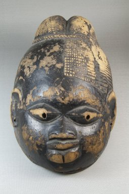 Yorùbá. <em>Gelede Mask</em>, late 19th or early 20th century. Wood, pigment, 7 x 6 1/2 x 12 in. (17.8 x 16.5 x 30.5 cm). Brooklyn Museum, Museum Expedition 1922, Robert B. Woodward Memorial Fund, 22.1580. Creative Commons-BY (Photo: Brooklyn Museum, CUR.22.1580_top_PS5.jpg)