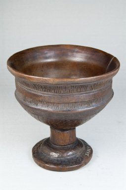 Wongo. <em>Palm Wine Cup</em>, early 20th century. Wood, 5 1/8 x 5 x 5 in. (13 x 12.7 x 12.7 cm). Brooklyn Museum, Museum Expedition 1922, Robert B. Woodward Memorial Fund, 22.159. Creative Commons-BY (Photo: Brooklyn Museum, CUR.22.159_front_PS5.jpg)
