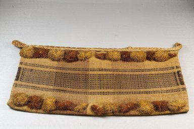 Kongo. <em>Bag</em>, 19th century. Raffia fiber, 7 7/8 x 15 3/4 in. (20 x 40 cm). Brooklyn Museum, Museum Expedition 1922, Robert B. Woodward Memorial Fund, 22.1615. Creative Commons-BY (Photo: Brooklyn Museum, CUR.22.1615_front_PS5.jpg)