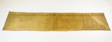 <em>Raffia Cloth</em>, 19th century. Raffia, 69 1/2 x 14 3/4 in. (177.0 x 36.0 cm). Brooklyn Museum, Museum Expedition 1922, Robert B. Woodward Memorial Fund, 22.1630. Creative Commons-BY (Photo: Brooklyn Museum, CUR.22.1630_top_PS5.jpg)