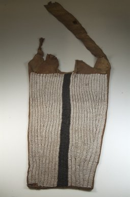 Swahili. <em>Woman's Apron</em>, late 19th-early 20th century. Leather, glass beads, 13in. (33 x 55cm) at top. Brooklyn Museum, Museum Expedition 1922, Robert B. Woodward Memorial Fund, 22.1631. Creative Commons-BY (Photo: Brooklyn Museum, CUR.22.1631_front_PS5.jpg)