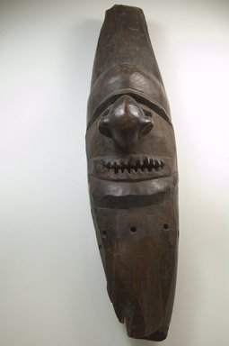 Kanak. <em>Mask (Pwemwe)</em>, late 19th-early 20th century. Wood, 24 x 5 x 6 1/4 in. (61 x 12.7 x 15.9 cm). Brooklyn Museum, Museum Expedition 1922, Robert B. Woodward Memorial Fund, 22.1691. Creative Commons-BY (Photo: Brooklyn Museum, CUR.22.1691_front_PS5.jpg)
