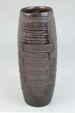 Kuba. <em>Cup</em>, late 19th or early 20th century. Wood, 7 1/8 x 3 x 3 in. (18.1 x 7.6 x 7.6 cm). Brooklyn Museum, Museum Expedition 1922, Robert B. Woodward Memorial Fund, 22.173. Creative Commons-BY (Photo: Brooklyn Museum, CUR.22.173_front_PS5.jpg)