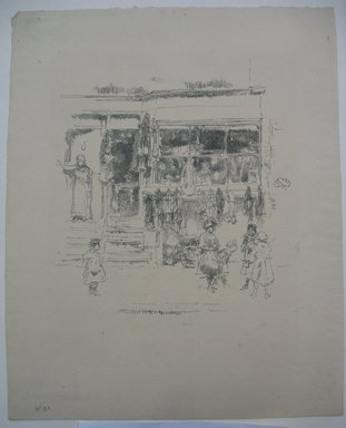 James Abbott McNeill Whistler (American, 1834-1903). <em>Chelsea Rags</em>, 1888. Lithograph, 11 1/8 x 8 15/16 in. (28.3 x 22.7 cm). Brooklyn Museum, Museum Collection Fund, 22.1763 (Photo: Brooklyn Museum, CUR.22.1763.jpg)