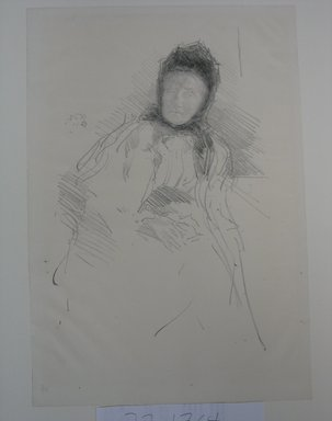 James Abbott McNeill Whistler (American, 1834-1903). <em>Unfinished Sketch of Lady Haden</em>, 1895. Lithograph, 14 9/16 x 10 1/8 in. (37 x 25.7 cm). Brooklyn Museum, Museum Collection Fund, 22.1764 (Photo: Brooklyn Museum, CUR.22.1764.jpg)