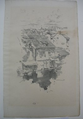 James Abbott McNeill Whistler (American, 1834-1903). <em>Vitré</em>, 1893. Lithograph, 13 x 8 1/4 in. (33 x 21 cm). Brooklyn Museum, Museum Collection Fund, 22.1766 (Photo: Brooklyn Museum, CUR.22.1766.jpg)
