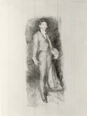 James Abbott McNeill Whistler (American, 1834-1903). <em>Count Robert De Montesquiou, Number Two</em>, 1895. Lithograph, 14 3/8 x 10 3/16 in. (36.5 x 25.9 cm). Brooklyn Museum, Museum Collection Fund, 22.1809 (Photo: Brooklyn Museum, CUR.22.1809.jpg)