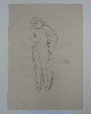 James Abbott McNeill Whistler (American, 1834-1903). <em>Draped Figure Standing</em>, 1891. Lithograph, 11 7/8 x 8 3/8 in. (30.2 x 21.3 cm). Brooklyn Museum, Museum Collection Fund, 22.1811 (Photo: Brooklyn Museum, CUR.22.1811.jpg)