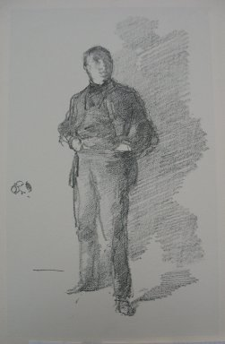 James Abbott McNeill Whistler (American, 1834-1903). <em>Study - Mr. Thomas Way, Number One</em>, 1896. Lithograph, Sheet: 13 1/2 x 9 9/16 in. (34.3 x 24.3 cm). Brooklyn Museum, Museum Collection Fund, 22.1812 (Photo: Brooklyn Museum, CUR.22.1812.jpg)
