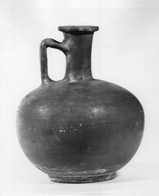 Cypriot. <em>Jar</em>, 150-250 C.E. Clay, 6 7/16 x Diam. 5 3/8 in. (16.4 x 13.6 cm) . Brooklyn Museum, Gift of Mrs. Frederic H. Betts, 22.18. Creative Commons-BY (Photo: Brooklyn Museum, CUR.22.18_NegA_print_bw.jpg)