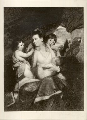 Timothy Cole (American, 1852-1931). <em>Lady Cockhurn and Family</em>. Wood engraving block, 6 7/8 x 5 1/4 x 15/16 in. (17.4 x 13.4 x 2.4 cm). Brooklyn Museum, Gift of Frank L. Babbott, 22.1918 (Photo: Brooklyn Museum, CUR.22.1918.jpg)