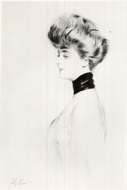Paul-César Helleu (French, 1859-1927). <em>Portrait Head</em>. Drypoint on wove paper, 21 5/8 x 13 9/16 in. (55 x 34.5 cm). Brooklyn Museum, Gift of the Misses Cullen in memory of Edgar M. Cullen, 22.1951 (Photo: Brooklyn Museum, CUR.22.1951.jpg)