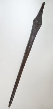 Pende. <em>Stave</em>, late 19th or early 20th century. Wood, 37 3/16 x 3 1/4 in. (94.5 x 8.3 cm). Brooklyn Museum, Museum Expedition 1922, Robert B. Woodward Memorial Fund, 22.199. Creative Commons-BY (Photo: Brooklyn Museum, CUR.22.199_threequarter_PS5.jpg)