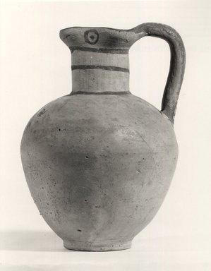 Cypriot. <em>Oinochoe</em>, 700-600 B.C.E. Terracotta, pigment, 5 3/8 x Diam. 3 3/4 in. (13.6 x 9.6 cm). Brooklyn Museum, Gift of Mrs. Frederic H. Betts, 22.20. Creative Commons-BY (Photo: Brooklyn Museum, CUR.22.20_print_NegA_bw.jpg)