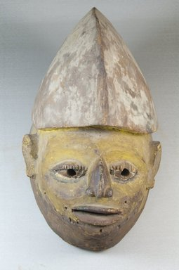 Yorùbá. <em>Gelede Mask</em>, 19th century. Wood, pigment, 8 1/2 x 7 x 13 1/2 in. (21.6 x 17.8 x 34.3 cm). Brooklyn Museum, Robert B. Woodward Memorial Fund