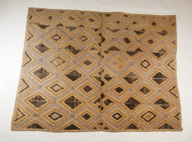 Kuba. <em>Raffia Pile Panel</em>, 19th century. Raffia, 27 3/4 x 22 5/8 in. (70.5 x 57.5 cm). Brooklyn Museum, Museum Expedition 1922, Robert B. Woodward Memorial Fund, 22.242. Creative Commons-BY (Photo: Brooklyn Museum, CUR.22.242_top_PS5.jpg)