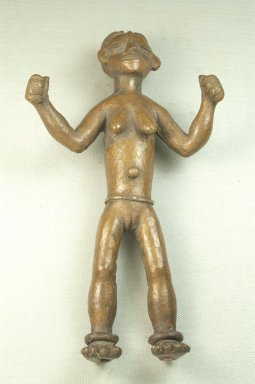 Bwayen (We, flourished 1920s-1930s). <em>Standing Female Nude</em>, late 19th or early 20th century. Copper alloy, 9 x 5 x 2 3/4 in. (22.9 x 12.7 x 7.0 cm). Brooklyn Museum, Museum Expedition 1922, Robert B. Woodward Memorial Fund, 22.254. Creative Commons-BY (Photo: Brooklyn Museum, CUR.22.254_front_PS5.jpg)