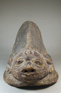 Yorùbá. <em>Gelede Mask</em>, late 19th century. Wood, 8 1/2 x 8 1/2 x 12 1/2 in. (21.6 x 21.6 x 31.8 cm). Brooklyn Museum, Museum Expedition 1922, Robert B. Woodward Memorial Fund