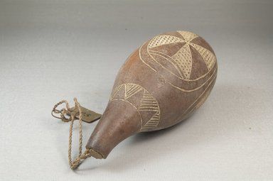 <em>Calabash</em>, before 1922. Gourd, fiber, height: 6 5/16 in. (16 cm); diameter: 2 9/16 in. (6.5 cm). Brooklyn Museum, Museum Expedition 1922, Robert B. Woodward Memorial Fund, 22.360. Creative Commons-BY (Photo: Brooklyn Museum, CUR.22.360_threequarter_PS5.jpg)