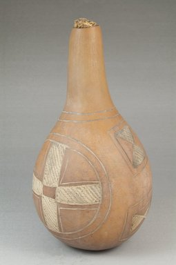 <em>Calabash</em>, before 1922. Gourd, height: 8 1/8 in. (20.7 cm); diameter: 4 1/8 in. (10.5 cm). Brooklyn Museum, Museum Expedition 1922, Robert B. Woodward Memorial Fund, 22.363. Creative Commons-BY (Photo: Brooklyn Museum, CUR.22.363_front_PS5.jpg)