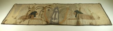 <em>Cloth with Figures Appliqued</em>, before 1922. Cloth, 16 3/4 x 48 in. (42.5 x 121.9 cm). Brooklyn Museum, Museum Expedition 1922, Robert B. Woodward Memorial Fund, 22.381. Creative Commons-BY (Photo: Brooklyn Museum, CUR.22.381_front_PS5.jpg)