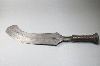 Ngbandi. <em>Dagger</em>, 19th century. Iron, metal wire, 2 5/8 x 15 1/2 in. (6.7 x 39.4 cm). Brooklyn Museum, Museum Expedition 1922, Robert B. Woodward Memorial Fund, 22.400. Creative Commons-BY (Photo: Brooklyn Museum, CUR.22.400_side_PS5.jpg)