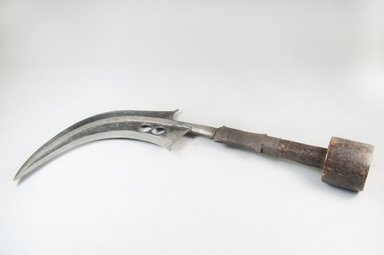 Mangbetu. <em>Knife (Trumbash)</em>, late 19th or early 20th century. Wood, iron, metal wire, 3 3/4 x 16 1/2 in. (9.5 x 41.9 cm). Brooklyn Museum, Museum Expedition 1922, Robert B. Woodward Memorial Fund, 22.462. Creative Commons-BY (Photo: Brooklyn Museum, CUR.22.462_side_PS5.jpg)
