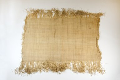 Possibly Kuba. <em>Raffia Cloth</em>, 19th century. Raffia, 24 3/8 x 14 in. (62.0 x 35.5 cm). Brooklyn Museum, Museum Expedition 1922, Robert B. Woodward Memorial Fund, 22.469.11. Creative Commons-BY (Photo: Brooklyn Museum, CUR.22.469.11_top_PS5.jpg)