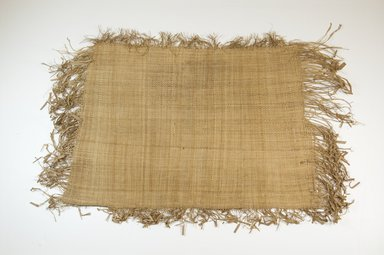 Possibly Kuba. <em>Raffia Cloth</em>, 19th century. Raffia, 15 3/4 x 11 1/4 in. (40.0 x 28.5 cm). Brooklyn Museum, Museum Expedition 1922, Robert B. Woodward Memorial Fund, 22.469.12. Creative Commons-BY (Photo: Brooklyn Museum, CUR.22.469.12_top_PS5.jpg)