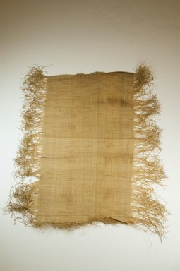 Possibly Kuba. <em>Raffia Cloth</em>, 19th century. Raffia, 21 5/8 x 11 3/8 in. (55.0 x 29.0 cm). Brooklyn Museum, Museum Expedition 1922, Robert B. Woodward Memorial Fund, 22.469.16. Creative Commons-BY (Photo: Brooklyn Museum, CUR.22.469.16_top_PS5.jpg)