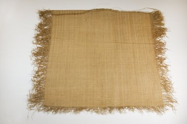 Possibly Kuba. <em>Raffia Cloth</em>, 19th century. Raffia, 19 2/8 x 18 1/8 in. (49.0 x 46.0 cm. Brooklyn Museum, Museum Expedition 1922, Robert B. Woodward Memorial Fund, 22.469.17. Creative Commons-BY (Photo: Brooklyn Museum, CUR.22.469.17_top_PS5.jpg)
