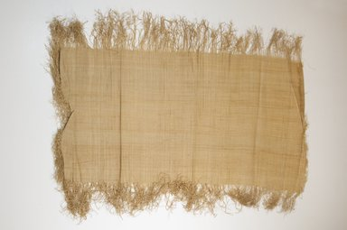 Possibly Kuba. <em>Raffia Cloth</em>, 19th century. Raffia, 25 3/4 x 12 in. (65.5 x 30.5 cm). Brooklyn Museum, Museum Expedition 1922, Robert B. Woodward Memorial Fund, 22.469.19. Creative Commons-BY (Photo: Brooklyn Museum, CUR.22.469.19_top_PS5.jpg)