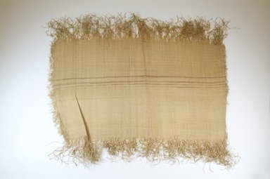 Kuba. <em>Raffia Cloth</em>, 19th century. Raffia, 23 3/4 x 19 1/2 in. (56.0 x 4.0 cm). Brooklyn Museum, Museum Expedition 1922, Robert B. Woodward Memorial Fund, 22.469.1. Creative Commons-BY (Photo: Brooklyn Museum, CUR.22.469.1_26504_top_PS5.jpg)