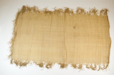 Possibly Kuba. <em>Raffia Cloth</em>, 19th century. Raffia, 25 1/2 x 13 1/4 in. (65.0 x 33.5 cm). Brooklyn Museum, Museum Expedition 1922, Robert B. Woodward Memorial Fund, 22.469.20. Creative Commons-BY (Photo: Brooklyn Museum, CUR.22.469.20_top_PS5.jpg)