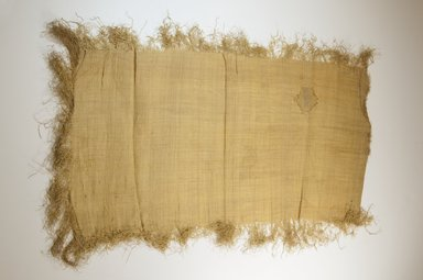 Possibly Kuba. <em>Raffia Cloth</em>, 19th century. Raffia, 25 2/8 x 13 in. (64.5 x 33.0 cm). Brooklyn Museum, Museum Expedition 1922, Robert B. Woodward Memorial Fund, 22.469.21. Creative Commons-BY (Photo: Brooklyn Museum, CUR.22.469.21_top_PS5.jpg)