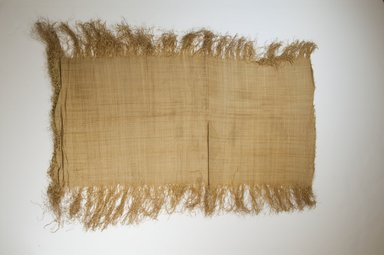 Possibly Kuba. <em>Raffia Cloth</em>, 19th century. Raffia, 28 3/8 x 13 in. (72.0 x 33.0 cm). Brooklyn Museum, Museum Expedition 1922, Robert B. Woodward Memorial Fund, 22.469.22. Creative Commons-BY (Photo: Brooklyn Museum, CUR.22.469.22_top_PS5.jpg)
