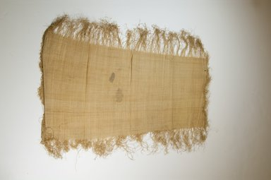 Possibly Kuba. <em>Raffia Cloth</em>, 19th century. Raffia, 24 7/8 x 11 3/8 in. (63.0 x 29.0 cm). Brooklyn Museum, Museum Expedition 1922, Robert B. Woodward Memorial Fund, 22.469.23. Creative Commons-BY (Photo: Brooklyn Museum, CUR.22.469.23_top_PS5.jpg)
