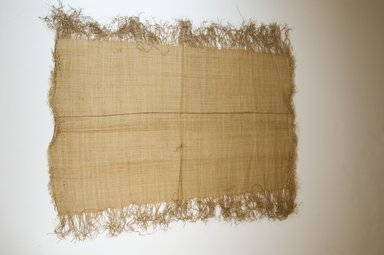 Possibly Kuba. <em>Raffia Cloth</em>, 19th century. Raffia, 22 5/8 x 13 3/8 in. (57.5 x 34.0 cm. Brooklyn Museum, Museum Expedition 1922, Robert B. Woodward Memorial Fund, 22.469.24. Creative Commons-BY (Photo: Brooklyn Museum, CUR.22.469.24_top_PS5.jpg)