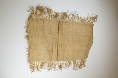 Possibly Kuba. <em>Raffia Cloth</em>, 19th century. Raffia, 21 2/8 x 11 3/4 in. (54.0 x 29.0 cm). Brooklyn Museum, Museum Expedition 1922, Robert B. Woodward Memorial Fund, 22.469.25. Creative Commons-BY (Photo: Brooklyn Museum, CUR.22.469.25_top_PS5.jpg)